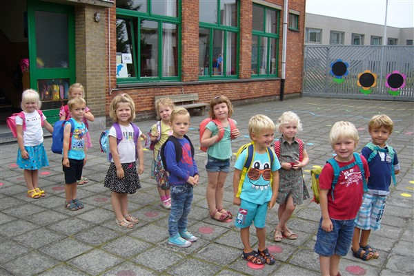De eerste schooldagen in K2a