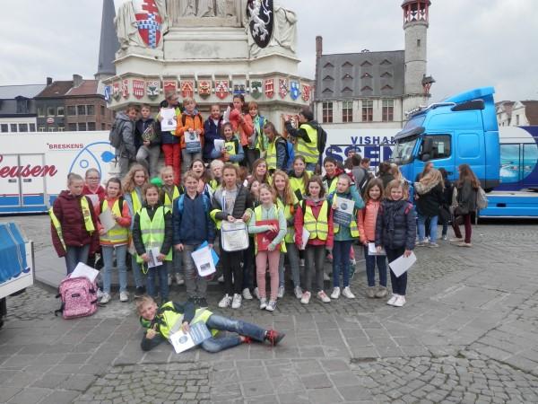 Het vijfde leerjaar op uitstap naar Gent