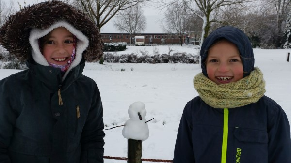 Sneeuwpret op school…