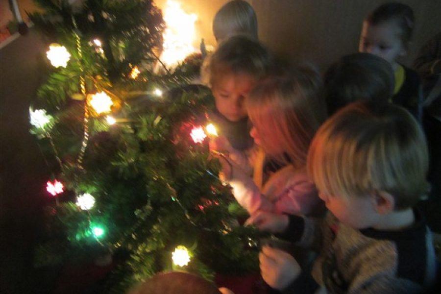 Kerstsfeer in de bijtjesklas