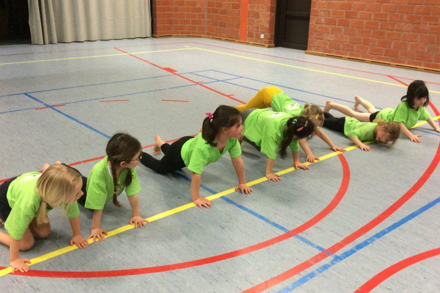 Sportieve leerlingen in het eerste leerjaar a.