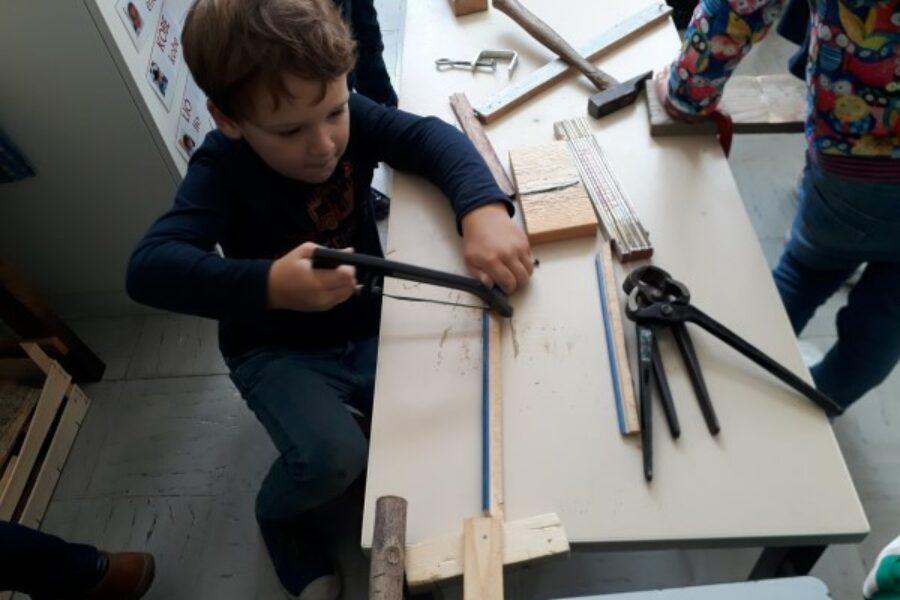 Nog enkele sfeerbeelden rond het werken met hout.