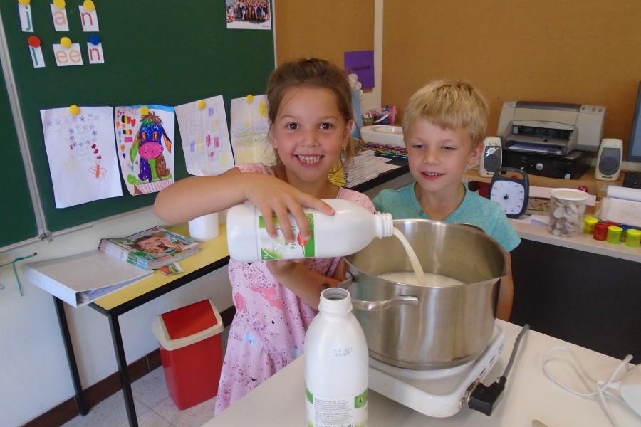 Vlaai maken in het eerste leerjaar B.