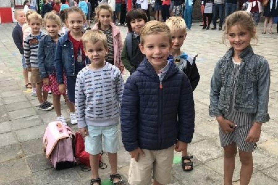 De eerste sfeerbeelden van de kinderen van L1B.