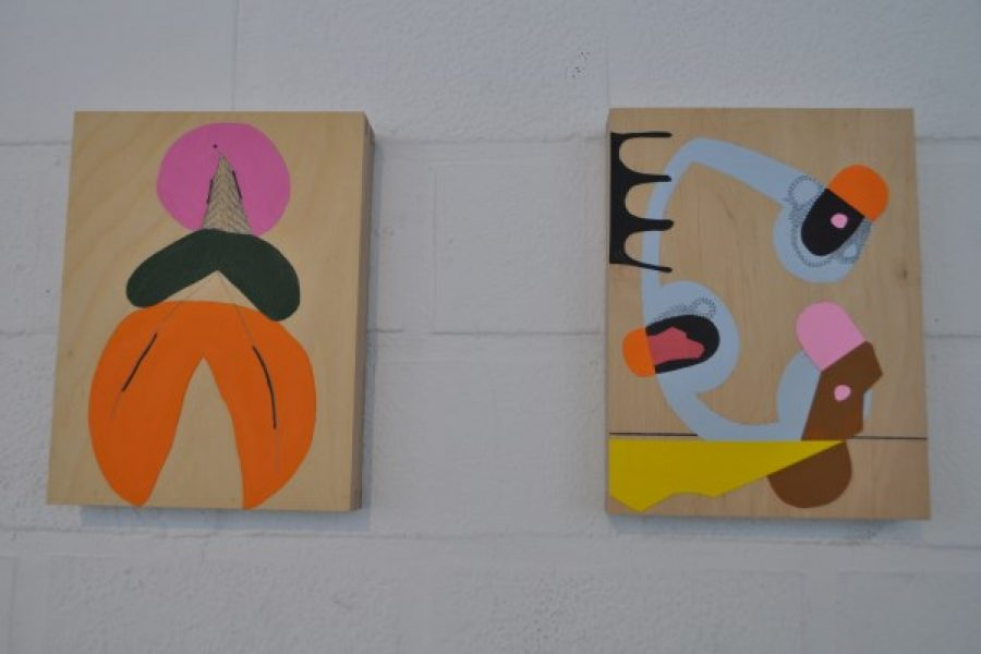 Bezoek aan kunsttentoonstelling van Windy Corteel
