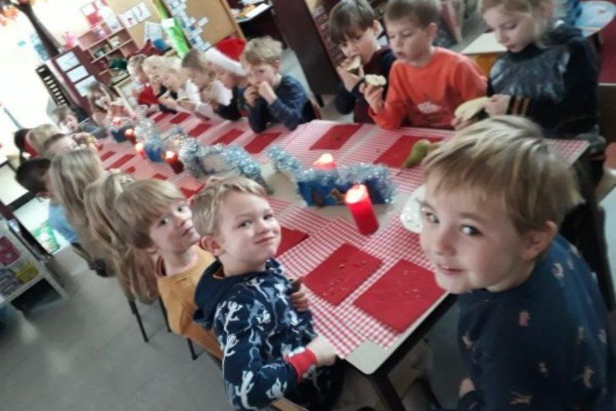 kerstsfeer in de klas