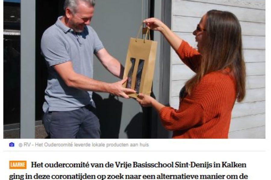 Succesvolle vaderdagactie van oudercomité VBS Sint-Denijs met lokale producten.