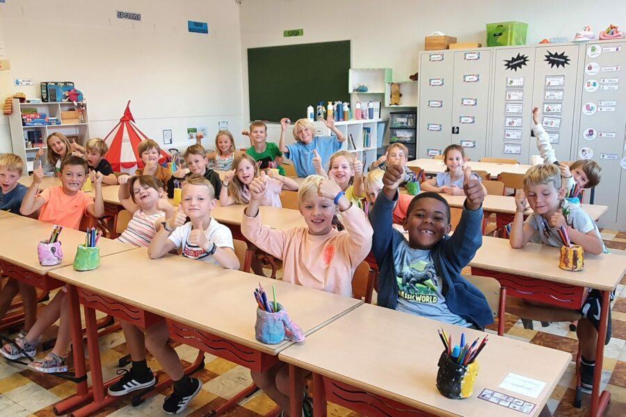 De eerste dagen in het tweede leerjaar …